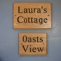 Carvers Stable Lauras Cottage and Oasts View house signs