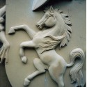 Carvers Stable Medway Tunnel carved shield