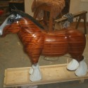 Carvers Stable Shire Horse sculpture