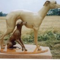 Carvers Stable Whippet and Italian Greyhound sculpture